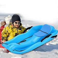 Cheap snow sled, Buy Quality children sled directly from China sled snow Suppliers: Children Sleds Outdoor Winter Plastic Skiing Boards Adult Snow Sleds Two Brakes Light Weight Thicken Plastic Ski Pad Toboggan Luge, Sleds For Kids, Snow Toys, Snowboards, Gras, Plein Air, Winter Sports, Outdoor Fun, Outdoors
