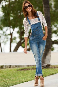 ROYAL BLUE Destructed Overall