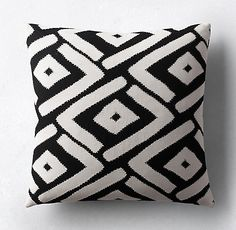 Dayo Outdoor Pillow Collection by Kerry Joyce - Black/White   RH