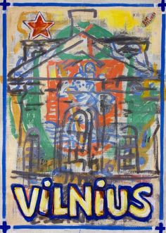 "Saatchi Art Artist Borai Kahne Ateliers; Painting, ""European Capital Cities - Vilnius"" #art"