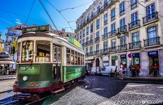 Tram in central Lisbon, Portugal. Portugal Highlights for a 2 Week Itinerary.