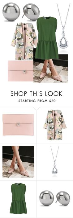 """Pink, Olive & Gray"" by timekawash ❤ liked on Polyvore featuring Alexander McQueen, Chicnova Fashion, BERRICLE, Valentino and Chico's"