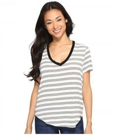 Volcom - Lived in Tee (Black Combo) Women's T Shirt