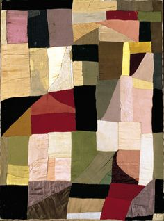 """Sonia Delaunay, """"Couverture de Berceau"""" (1911) I can imagine this in velvet or silk fabric"""