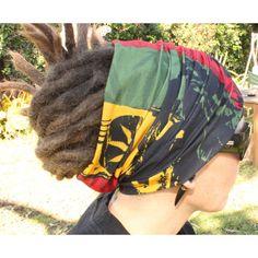 71a2f216758 Bob Marley Rasta Dreadlock Headband dread sock wrap - Lightweight