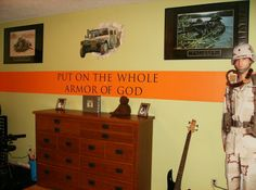 Like working this phrase into his military room theme we are working on Boys Army Room, Camo Rooms, Hunting Stuff, Masons, Color Stripes, Room Themes, Photo Library, New Room, Bellisima
