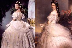 Sissi 1950s Winterhalter portrait gown