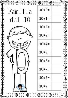 Missing numbers - - 6 Worksheets Preschool Spanish, Preschool Math, School Worksheets, Kindergarten Worksheets, Math Games, Activities For Kids, Simple Math, Classroom Language, Math For Kids