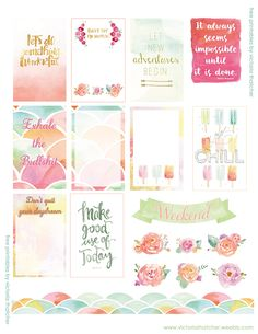Free Watercolor Stickers by Victoria Thatcher | ink&wink