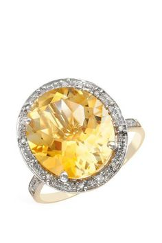 6.61 CTW Citrine Gold Ring | Brandsfever