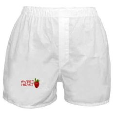 Strawberry Sweetheart Boxer Shorts on CafePress.com