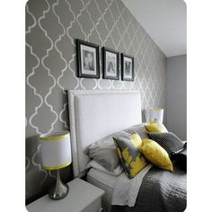 Stenciled Walls Design-not these colors but I like the design