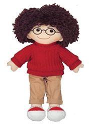 19 Soft Cuddly Doll With Glasses Boy