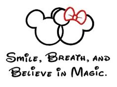 I would just do the believe in magic and Mickey and Minnie part on my wrist or faith thrust pixie dust