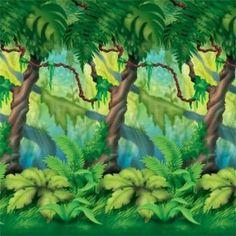 Boy 1st Joyeux anniversaire Scène Setter Premier Parti Décoration Murale Jungle Animaux