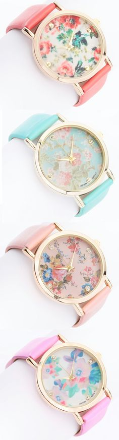 Perfect Blooms Watches -- Spring Summer Fall Winter Fashion. www.psiloveyoumoreboutique.com