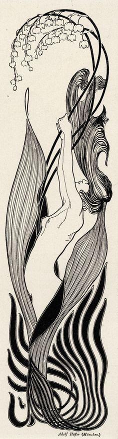 Illustration by Adolf Höfer. Die Jugend 1897,
