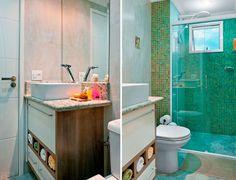 Banheiros Pequenos e Decorados: Fotos e Ideias Criativas!!!
