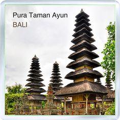 Acrylic Fridge Magnet: Indonesia. Pura Taman Ayun. Bali