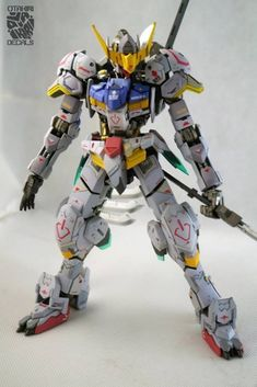Custom Build: 1/100 Gundam Barbatos Ver. Chessanova - Gundam Kits Collection News and Reviews Gundam Toys, Gundam Art, Barbatos Lupus Rex, Blood Orphans, Gundam Iron Blooded Orphans, Gundam Astray, Gundam Custom Build, Gunpla Custom, Girls Anime