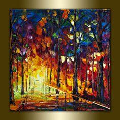Modern Painting Original Textured Palette Knife by willsonart, $165.00