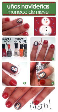 Tutorial: uñas de navidad www.gloss-boudoir.com