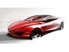 IED Alfa Romeo Gloria Concept Design Sketch