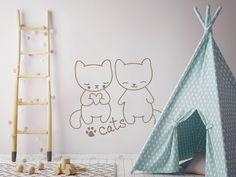 New Wandtattoo mit s en Katzen f r das Kinderzimmer