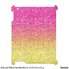 Pink and Yellow Sparkly Bits iPad Case