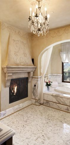 If you are having difficulty making a decision about a home decorating theme, tuscan style is a great home decorating idea. Many homeowners are attracted to the tuscan style because it combines sub… Tuscan Design, Tuscan Style, Tuscan Bathroom, Warm Bathroom, Master Bathroom, World Decor, Italian Home, Tuscan House, Mediterranean Decor