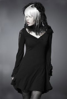 "Robe Gothique Punk Rave ""Black Butterfly"""