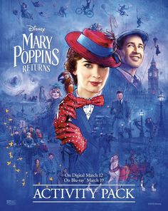 In Depression-era London, a now-grown Jane and Michael Banks, along with Michael's three children, are visited by the enigmatic Mary Poppins. Mary Poppins, Original Movie Posters, Film Posters, Spider Verse, Rob Marshall, Michael Banks, Emily Mortimer, Julie Walters, Jane And Michael