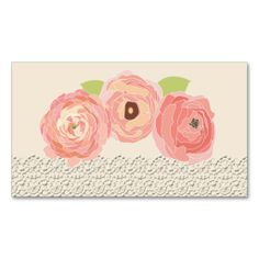 Rustic Posh in Coral Flat Place Cards