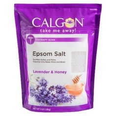 calgon therapy soak lavender honey epsom salt 3 lb therapy soak ...