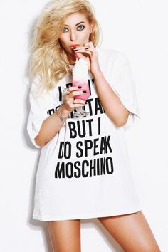 Related image Moschino, Shirt Dress, T Shirts For Women, Romania, Music, Idol, Activities, Cat, Beauty