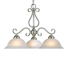 Millennium Lighting 3-Light Manchester Satin Nickel Chandelier