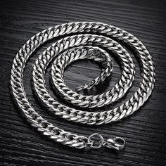 """Caperci Men's Silver Tone Stainless Steel High Polish #Byzantine Chain Necklace, 22.44"""": Jewelry"""