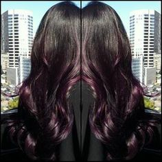 purple ombre.  Thinking about this but with a reddish black/purple