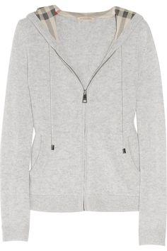 Burberry Brit|Hooded cashmere top|NET-A-PORTER.COM