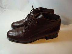 Women's Munro American Ankle Fashion Comfort Boots Brown Leather USA MADE-9.5 M #Munro #Ankle