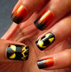 Varnished Valkyrie: This Is Halloween...: My First OFFICIAL Halloween Manicure