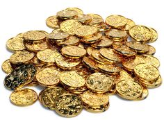 A pack of 100 metallic gold plastic coins, in diameter. These plastic coins depict generic coin-like illustrations, slightly raised, on both sides. Way To Make Money, Make Money Online, How To Make, Silver Investing, Buy Gold And Silver, Gold Bullion, Gold Coins, Precious Metals, Gold Jewelry