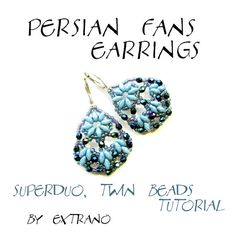 TUTORIAL  earrings  PERSIAN FANS  instant download by Extrano, $4.00