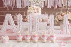 Shabby Chic themed birthday party with Such Cute Ideas via Kara's Party Ideas! full of decorating ideas, cakes, cupcakes, recipes, games, printables, favors, and MORE!