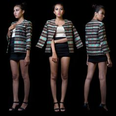 Ethnic jacket made from Ikat woven hand made in the by AnaTimor, $89.00