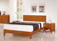 凱西南洋風情5尺柚木色實木雙人床架/床台 定  價 $8,400 /