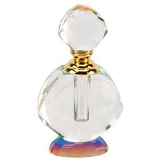 Large Round Rainbow Empty Perfume Scent Bottle 238