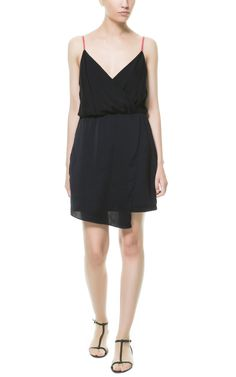 Image 1 of CROSSOVER DRESS WITH ASYMMETRIC HEM from Zara