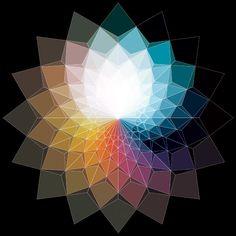 "arpeggia: ""Digital art by Andy Gilmore Geometric Nature, Geometric Designs, Geometric Shapes, Illustration Inspiration, Geometric Origami, Meditation, Patterns In Nature, Op Art, Fractal Art"