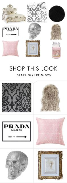 """Scream Queens Room"" by sweenagurkie on Polyvore featuring interior, interiors, interior design, home, home decor, interior decorating, Hooker Furniture, Astek, Prada and Yankee Candle"